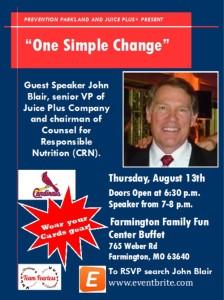 One Simple Change/John Blair, Farmington, MO @ Farmington Family Fun Center Buffet | Farmington | Missouri | United States