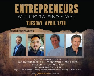 Entrepreneurs Willing to Find a Way @ Quail Ridge Lodge | Wentzville | Missouri | United States