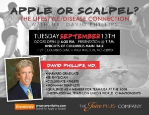 Apple or Scalpel?  Dr. David Phillips @ Knights of the Columbus Main Hall | Washington | Missouri | United States