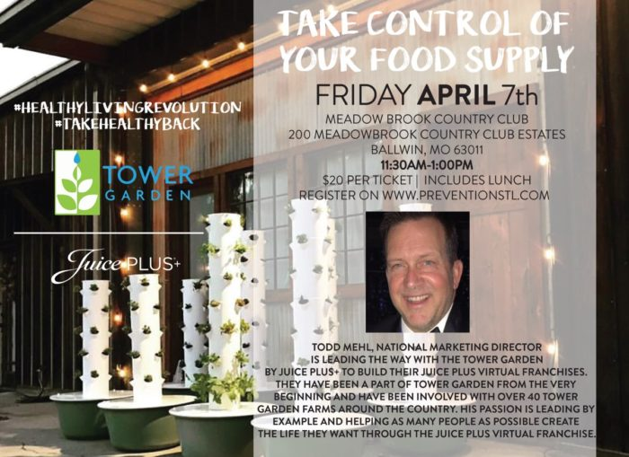 Take Control of Your Food Supply – Todd Mehl – Prevention STL