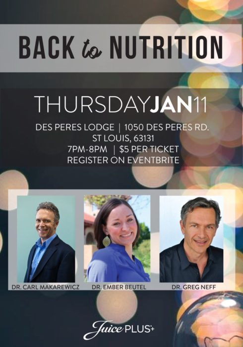Back to Nutrition @ The Lodge of Des Peres | St. Louis | Missouri | United States