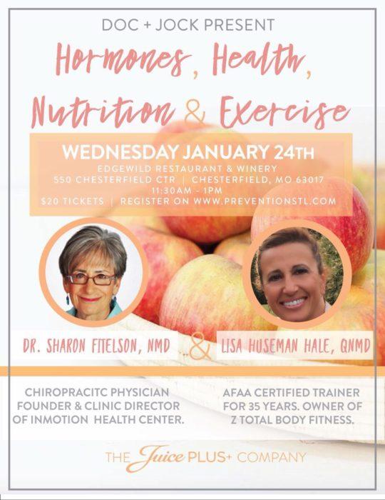 Hormones, Health, Nutrition & Exercise @ EdgeWild Restaurant & Winery | Chesterfield | Missouri | United States