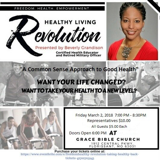 Healthy Living Revolution by Beverly Grandson @ Grace Bible Church | Florissant | Missouri | United States