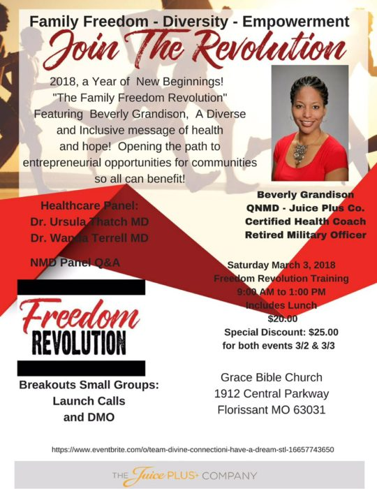 Freedom Revolution by Beverly Grandison @ Grace Bible Church | Florissant | Missouri | United States