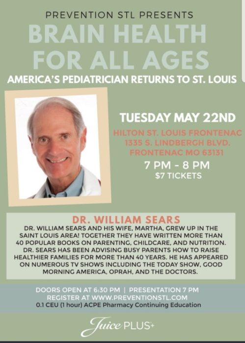 Brain Health for All Ages: Dr. Sears @ Hilton St. Louis Frontenac | Frontenac | Missouri | United States