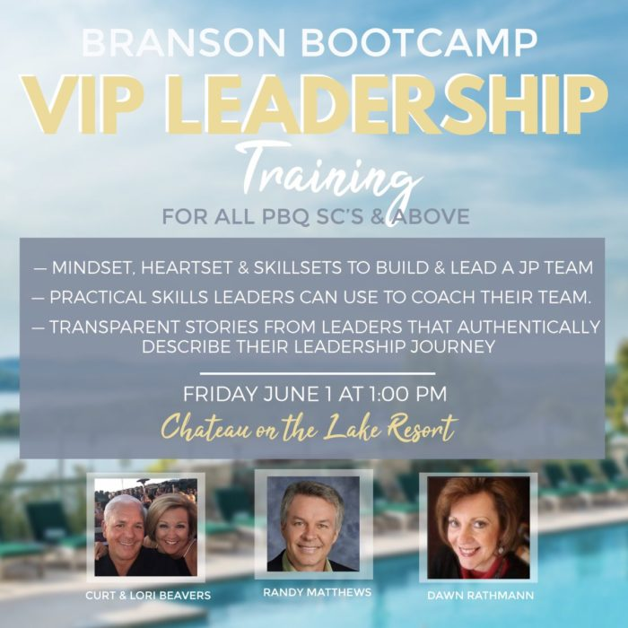 Branson Bootcamp VIP Leadership Training @ Chateau on the Lake Resort | Branson | Missouri | United States