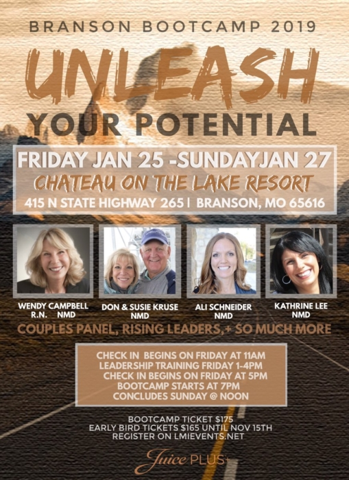 Branson Bootcamp 2019 @ Chateau on the Lake Resort | Branson | Missouri | United States