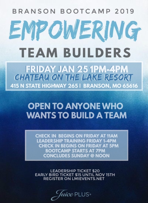 Empowering Team Builders @ Chateau on the Lake Resort | Branson | Missouri | United States