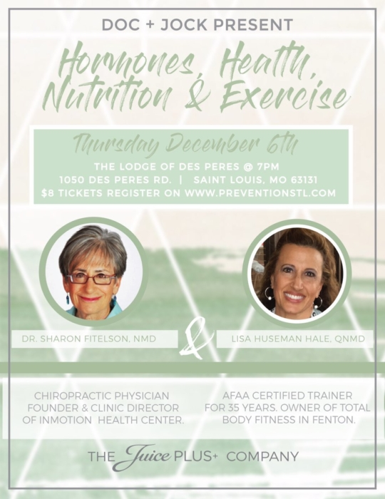 Hormones, Health, Nutrition & Exercise @ The Lodge of Des Peres | Des Peres | Missouri | United States