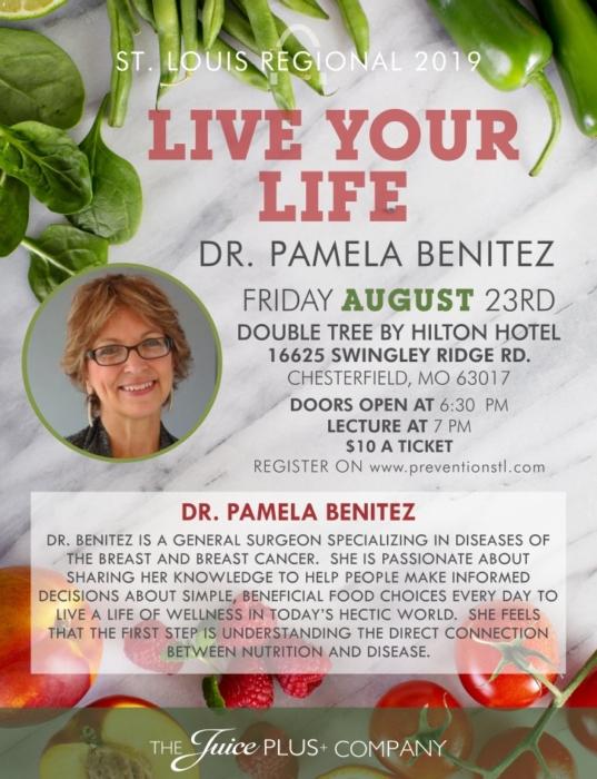 Live Life STL Dr. Pamela Benitez @ Double Tree   Chesterfield   Missouri   United States