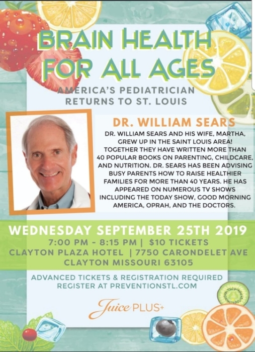 Dr. Sears - St. Louis - Sept 25 @ Clayton Plaza Hotel | Clayton | Missouri | United States