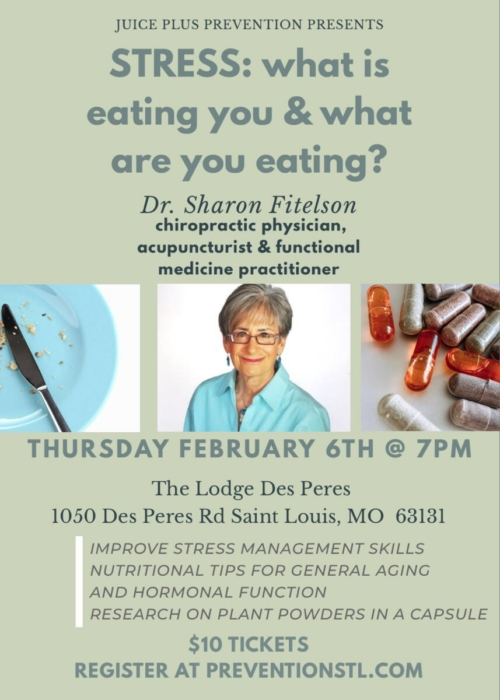 STRESS by Dr. Sharon Fitelson @ The Lodge Des Peres | Des Peres | Missouri | United States